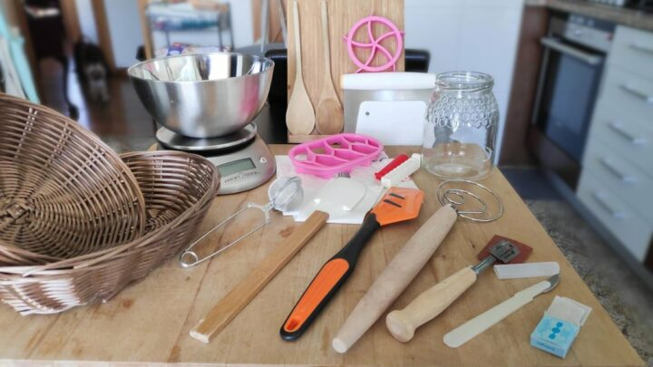 Utensílios necessários para fazer Pão com Fermento Natural