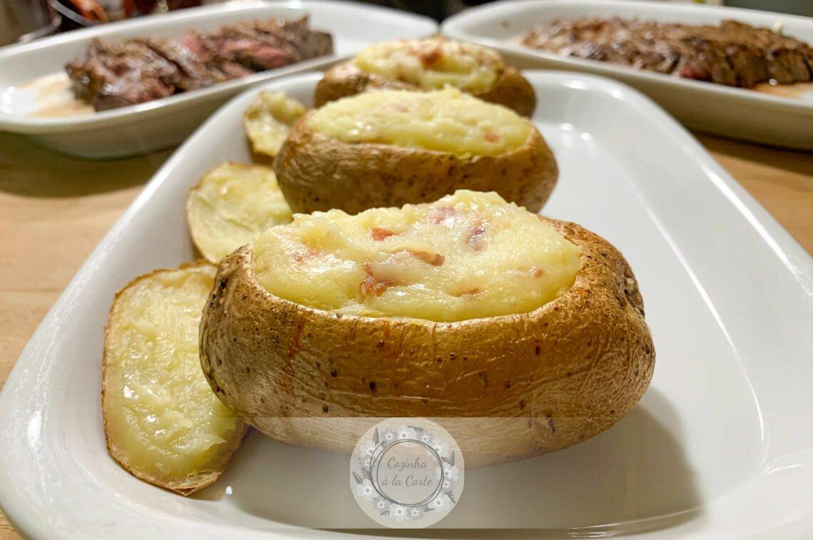 Batatas Recheadas com Queijo e Presunto