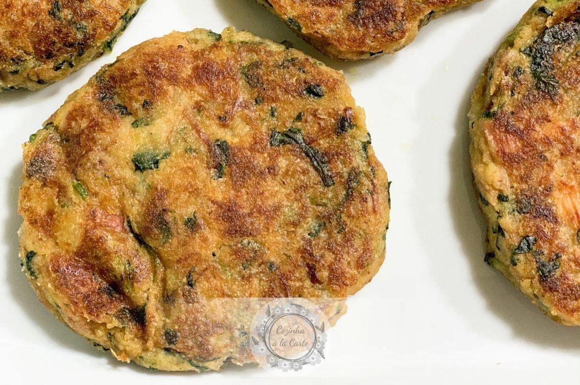 Hambúrgueres de Alheira e Espinafres