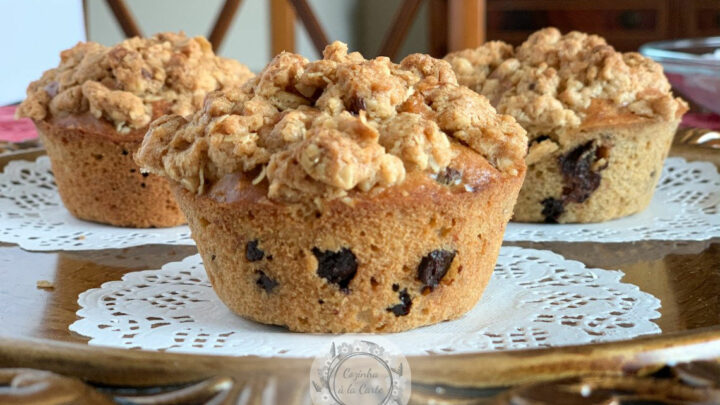 Muffins Crocantes de Chocolate
