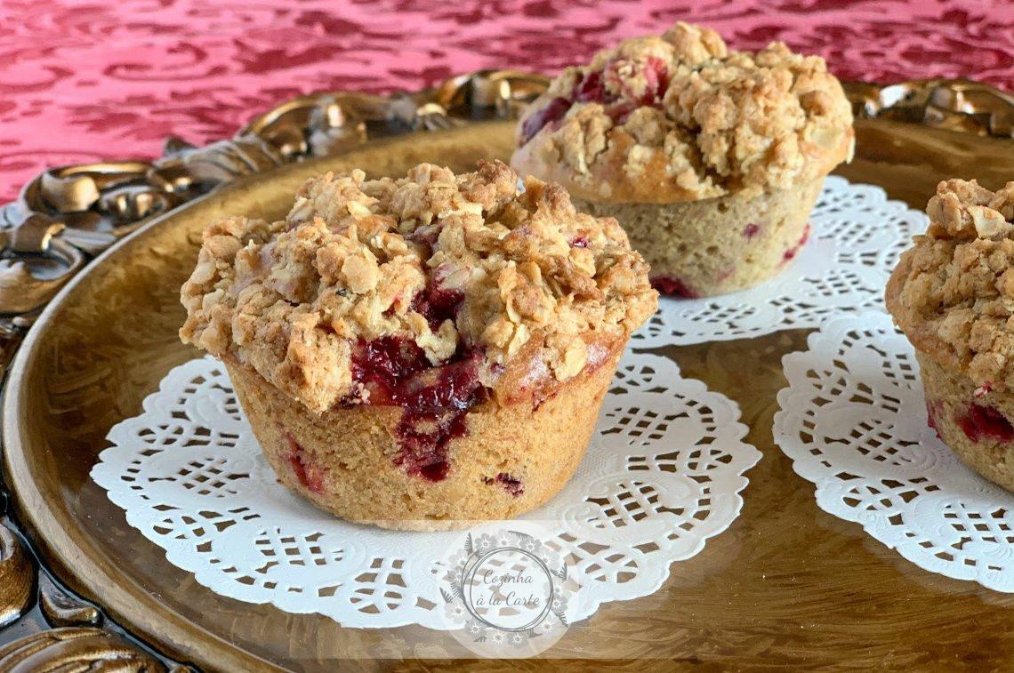 Muffins Crocantes de Framboesa