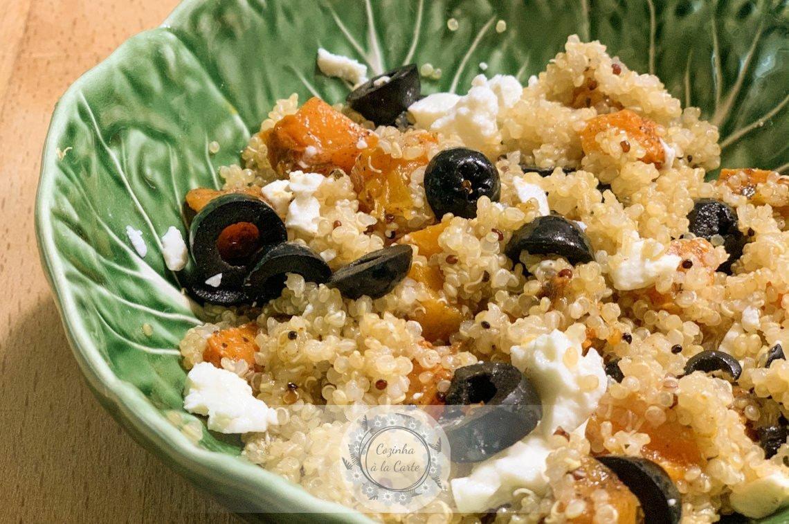 Salada Quente de Quinoa e Abóbora Assada