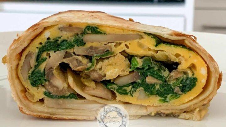 Omelete na Tortilha