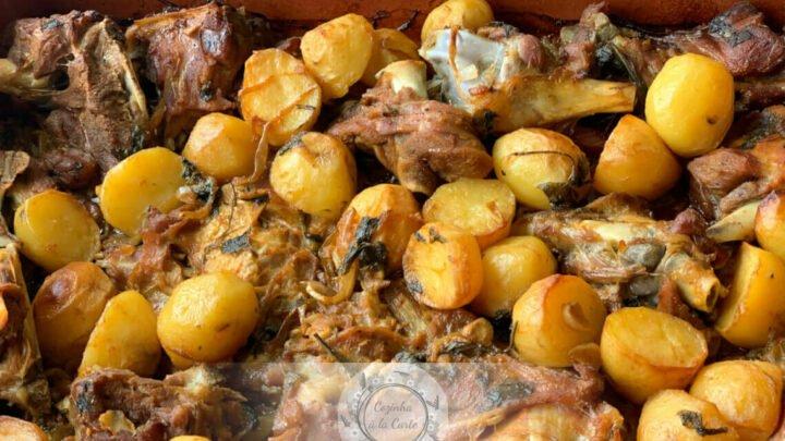 Batatas Assadas no Forno (Acompanhamento Cabrito de Páscoa)