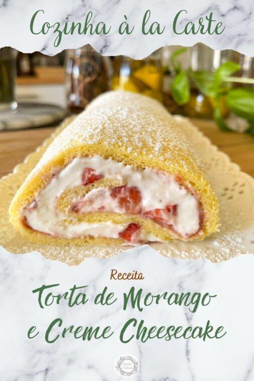 Torta Morango e Creme de heesecake