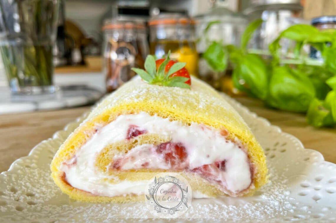 Torta de Morango e Creme Cheesecake