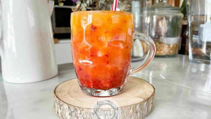 Cocktail Morango e Manga