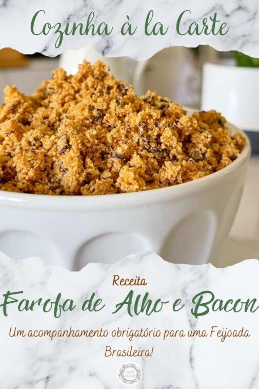 Farofa de Alho e Bacon